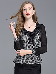 Sign 2017 lace shirt female long-sleeved blouses Hanfan Qiu clothes new Slim T-shirt
