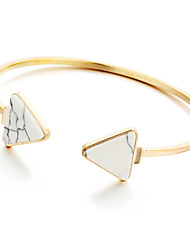 Bohemian Rhinestone Cuff Bracelets Gold Plated Triangle Bracelet Fashionable Geometric Alloy Jewellery