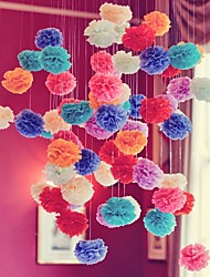 Wedding Decor (Set of 10) - 4 inch Paper Tissue Pom Pom Flower Beter Gifts® DIY Party Decoration