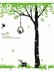 Wall Stickers Wall Decals Style Green Tree PVC Wall Stickers