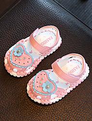 Baby Flats Comfort Leatherette Summer Casual Outdoor Walking Comfort Applique Magic Tape Flat Heel Blushing Pink Light Blue Flat