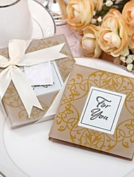Indian Golden Photo Frame Coaster Favor 2pcs/box Beter Gifts®Wedding Souvenirs