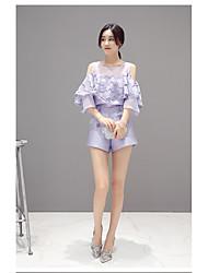 mulheres nova versão coreana do doce laço babados de organza strapless calções tops de moda