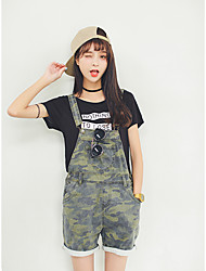 Excellent customer really making 2017 spring new tide camouflage shorts female strap