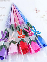 1 Branch Plastic Fiber Carnations