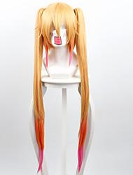 Kobayashi dragão empregada doméstica / irmã tremendo dragão tor gradiente de três cores dobrar ferradura alta peruca temperatura
