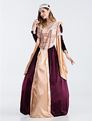 Cosplay Costumes Party Costume Princess Fairytale Festival/Holiday Halloween Costumes Purple Orange Patchwork DressHalloween Christmas