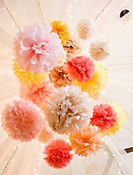 6pcs - 6inch Tissue Paper Pom Flowers Beter Gifts® Wedding Decoration Supplies