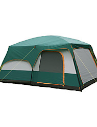 > 8 personnes Tente Double Tentes Familiales Trois pièces Tente de camping Polyester Etanche Respirabilité Résistant au vent-Randonnée