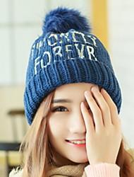 зима блесток письмо печать плюс бархат вязать шерсти защитить уши шляпу
