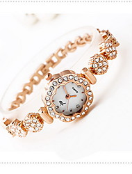 Women's Fashion Watch Water Resistant / Water Proof Quartz Alloy Band Flower Cool Casual Luxury Rose Gold