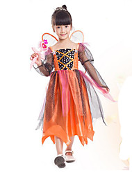 Cosplay Costumes Party Costume Kids Princess Cinderella Pumpkin Festival/Holiday Halloween Costumes Orange Patchwork DressHalloween Christmas