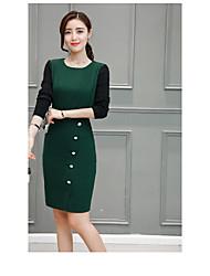 2017 neue Frauen&# 39; s langärmeligen Kleid langen Abschnitt Split spring spring-Modelle Temperament Schritt Rock Flut
