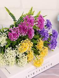 1 Ast Kunststoff Hortensie Tisch-Blumen Künstliche Blumen 32*32*33