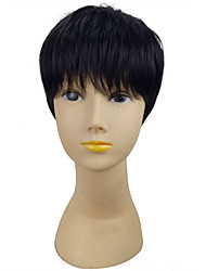 Black Color  Short Straight  Synthetic Wig Woman Classical Hair Styles for Dailiy Life