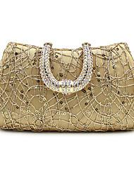 Damen Taschen Ganzjährig Polyester Satin Schminktäschchen Abendtasche mit Paillette Crystal / Strass für Hochzeit Veranstaltung / Fest