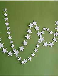 raylinedo® 1 шт 4 метра серебряная бумага гирлянда для украшения свадьбы звезд летию со дня рождения рождества партии девушки номеров