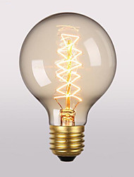 G80 Переменный ток 220-240 Е27 60w ретро творческого искусства личности декоративные лампочки 1шт