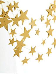 raylinedo® 1 шт 4 метра золотая бумага гирлянда для свадьбы летию со дня рождения рождественской вечеринки девушки украшения комнаты