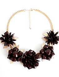 Women's Strands Necklaces Statement Necklaces Jewelry Jewelry Gem AlloyFlower Style Fashion Personalized Euramerican Statement Jewelry