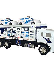 Auto della polizia Giocattoli 1:24 Metallo Plastica Bianco
