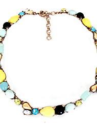 Women's Strands Necklaces Jewelry Gemstone Gem Alloy Jewelry Fashion Personalized Euramerican Rainbow JewelryParty Special Occasion