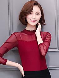 знак чистой пряжи 2017 кружевной воротник рубашки большой ярдов корейская тонкий тонкий дикий пассивом рубашки