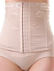 Women's Sexy Maternity Postpartum Slimming Underwear Corset Girdle Hook Elasticity Belt Waist Nylon Beige