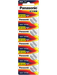 Panasonic CR1632 Button Cell Battery 3V 5 Pack
