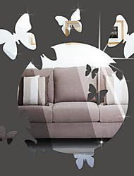 Животные Зеркала Мода Наклейки 3D наклейки Зеркальные стикеры Декоративные наклейки на стены,Винил материал Украшение домаНаклейка на