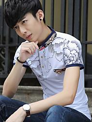 Junior pigsty Dragon 2017 summer male t-shirt popular men's short-sleeved t-shirt Slim collar men's short-sleeve t-shirt