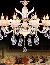 6 Lights European Style Chandelier Crystal Luxury Zinc Alloy LED Pendant Lights