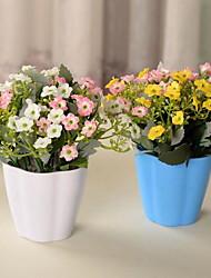 1 Branch Plastic Fiber Flowers