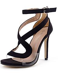 sandálias sapatos clube de verão fivela stiletto vestido de lã calcanhar
