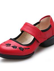 Keine Maßfertigung möglich-Niedriger Heel-Leder-Latin Jazz Tanz-Turnschuh Tapdance Modern Swing Schuhe-Damen