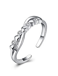 Ringe Hochzeit Party Besondere Anlässe Alltag Normal Schmuck Sterling Silber Zirkon Ring 1 Stück,8 Silber