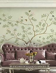 Art Deco Wallpaper For Home Wall Covering Canvas Adhesive Required Mural Simple Tree Modern Style XXXL(448*280cm)