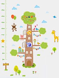 Wall Stickers Wall Decals Style Monkey Animals Measure Height PVC Height Stickers