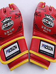 Pro Boxing Gloves Boxing Training Gloves for Boxing Fingerless Gloves Shockproof Wearproof Anatomic Design PUWULONG