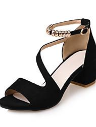 Mujer Sandalias Confort Suelas con luz Zapatos del club Semicuero Primavera Verano Vestido Fiesta y NocheConfort Suelas con luz Zapatos