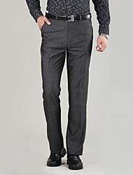 primavera e verão os homens de meia-idade de meia-idade&# 39; s calças ocasionais, calças, calças pai reta instalado negócios