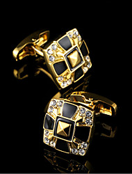 HOT Luxury Shirt Gold Cufflinks for Mens Brand Cuff Buttons Wedding Gifts Cuff link High Quality Gold Men Jewelry