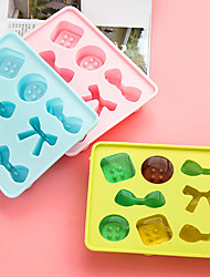 1Pcs Bowknot Buttons Modelling Ice Candy Ice Cream Ice Cream Mold Silicone Ice Ice Box Grid Model Color Random