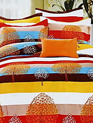 Set of 4 Pieces Cotton Bedding Quilt 200*230 Bed Sheet*1  Pillowcase*2