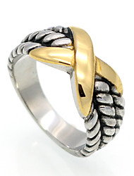 Fashion 'X' Shape Titanium Steel Rings 18K Gold Brand Design Vintage Jewelry For Women