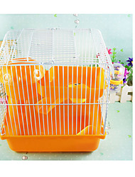 Chinchillas Cages Portable Multifonction Métal Plastique Orange Café Bleu Rose
