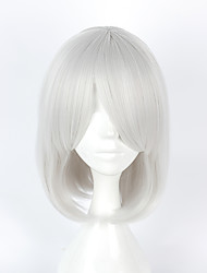 Perruques de Cosplay Cosplay Cosplay Blanc Court Manga Perruques de Cosplay 40 CM