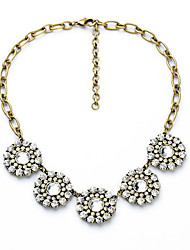 Women's Strands Necklaces Flower Chrome Unique Design Euramerican Jewelry For Gift Daily Christmas Gifts 1pc