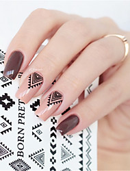 BORN PRETTY Triangle Diamond Shape Nail Art Water Decals Transfer Sticker BPY05