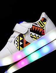 Jungen Sneaker Lauflern Leuchtende LED-Schuhe Kunstleder Frühling Sommer Sportlich Normal Walking LED Niedriger Absatz Weiß Schwarz Rosa